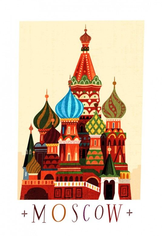 Moscow Russian Architecture Illustration