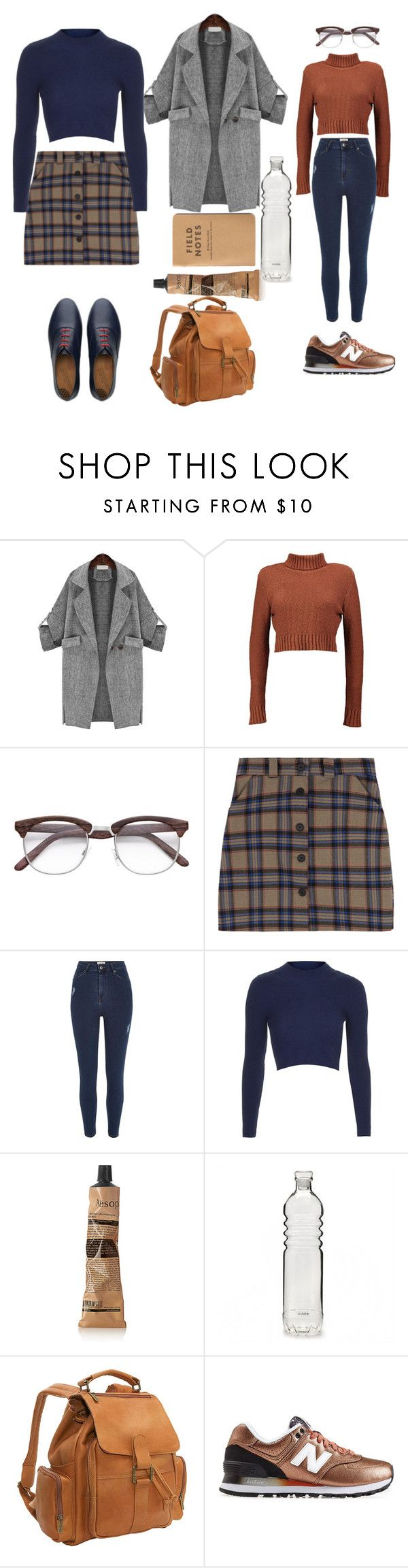 """Untitled #58"" by mycleo on Polyvore featuring Boohoo, River Island, Topshop, Aesop, Le Donne, New Balance and FitFlop"