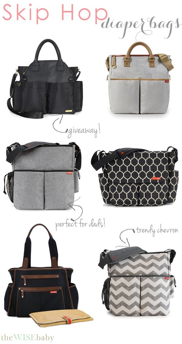 A collection of super chic and even more functional diaper bags from @Skip Hop! Enter our #giveaway for the all new Chelsea bag!