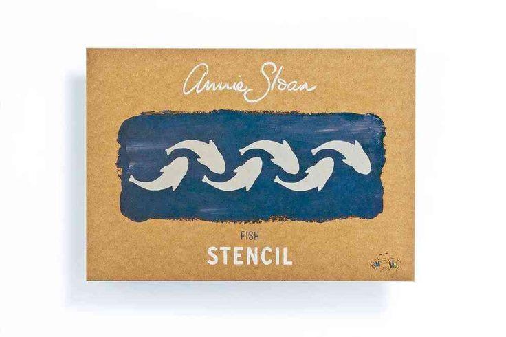 Annie Sloan Stencil Schablone Fish A4