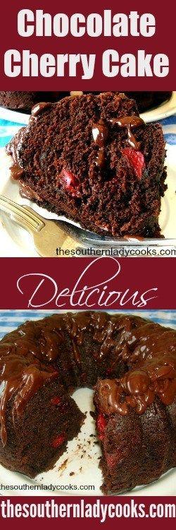 2 ingredient chocolate cherry cake
