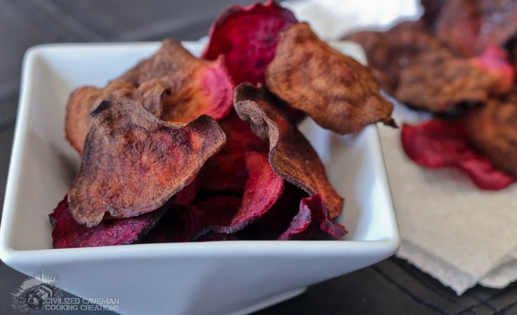 Oven Roasted Beet Chips