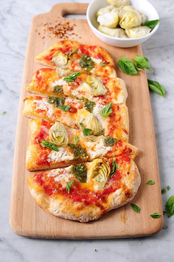 DeLallo Italian Recipes   Artichoke & Pesto Pizza