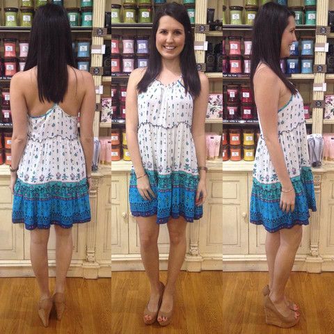 Jane Dress Blue/Green – Orange Sherbet Boutique