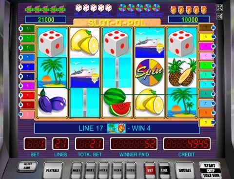Играть на автомате Slot-o-Pol в казино Вулкан Отдых на тропическом курорте, путешествие на круизном лайнере, вкусные экзотические фрукты, оригинальные коктейли и много удовольствия подарит казино Вулкан с игрой на реальные деньги - Slot o Pol от разработчика Mega Jack. Игр�