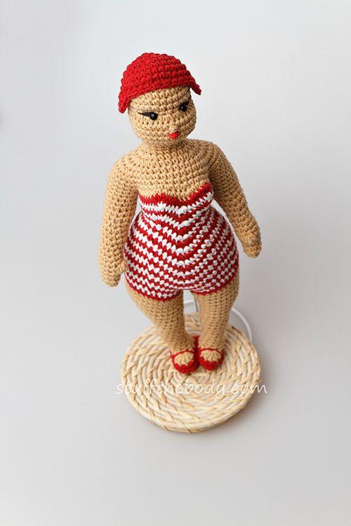 Beach Lady Doll Amigurumi Pattern - http://pinterest.com/Amigurumipins
