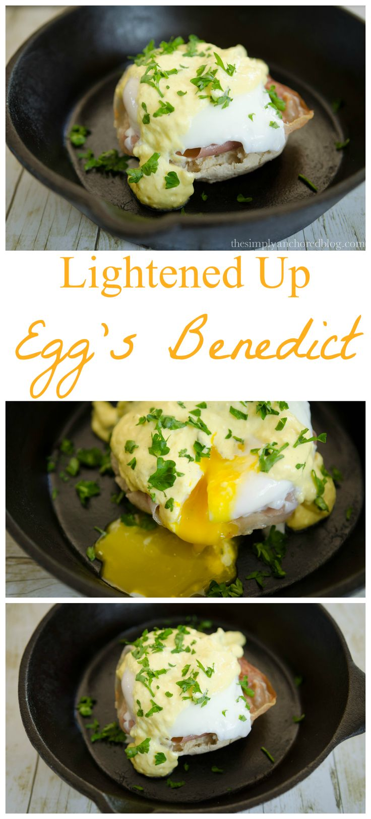Lightened Up Egg's Benedict NO butter! 21 day Fix approved