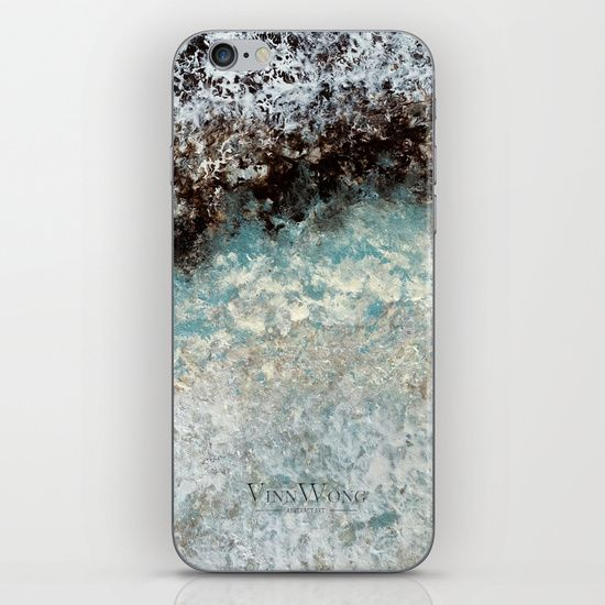 Deep green and silver abstract iPhone and iPod Skins by Vinn Wong | Full collection vinnwong.com | Visit the shop or Pin it For Later!