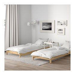 UTÅKER Stackable bed with 2 mattresses, pine, Meistervik - Twin - IKEA