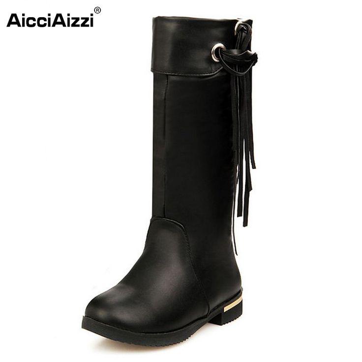 Automne Hiver Bottes Femmes Douce Botte Stylish Flat Flock Chaussures Bottes de neige Z4q91Hq7