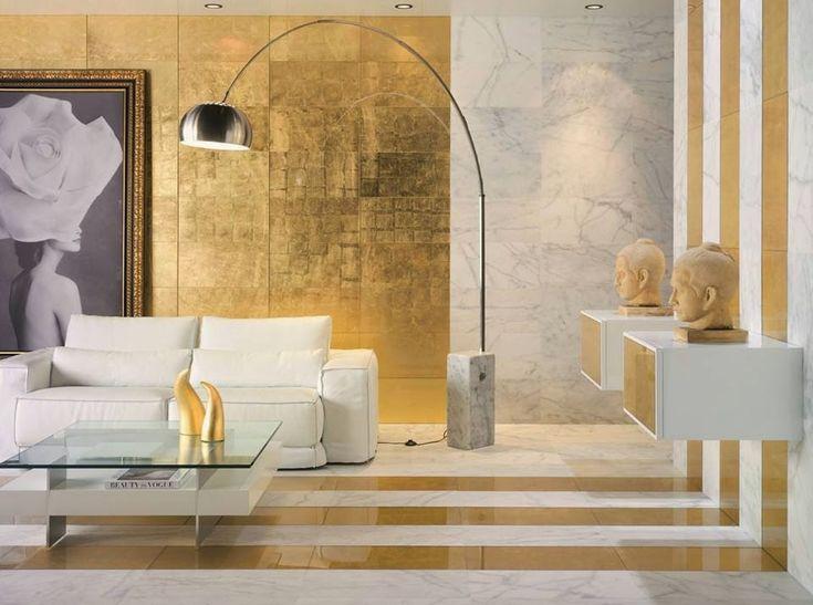 Глаз для дизайна: украсьте белый и золотой сочетание возможностей для Trendy Интерьеры
