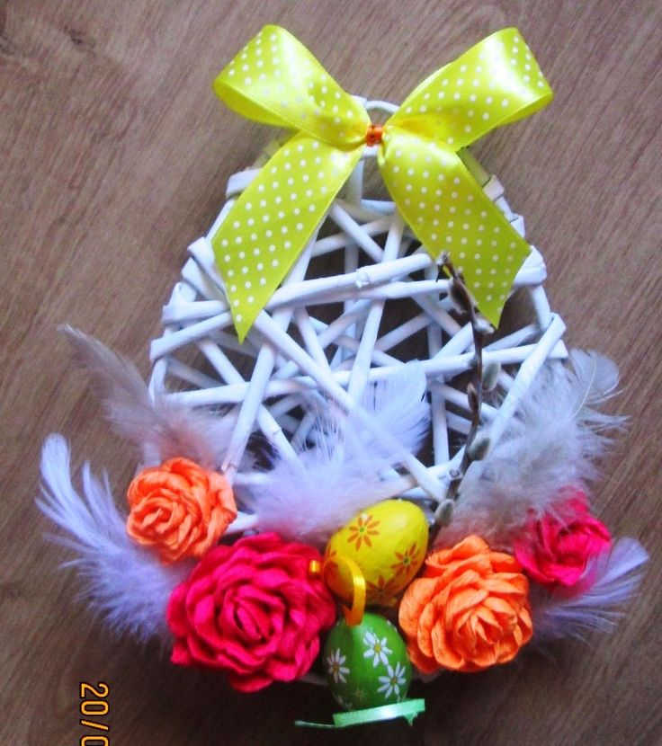 Handmade-kursy ,wzory ,tutoriale: Wielkanocne dekoracje-jajo z papierowej wikliny  W...