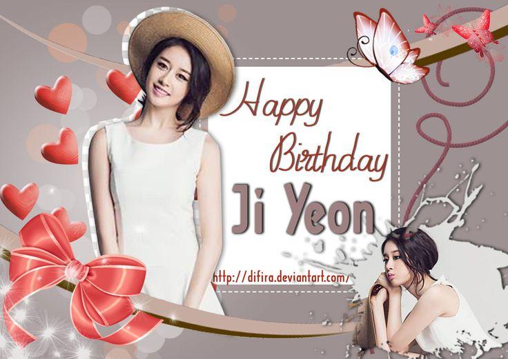 Happy Birthday Jiyeon by Difira.deviantart.com on @deviantART