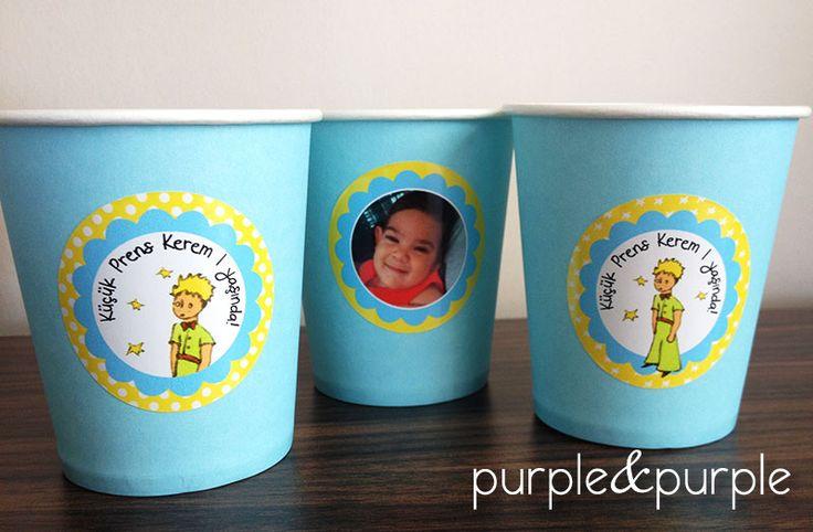 Küçük Prens Etiketli Parti Bardakları | Küçük Prens | Doğum Günü Kitap Süslemeleri | 1 yaş doğum günü hediyelikleri | 1 yaş parti süsleri | Küçük Prens (Le Petit Prince) temalı Parti | Le Petit Prince Birthday | Book Themed Parties | Le Petit Prince Themed Party