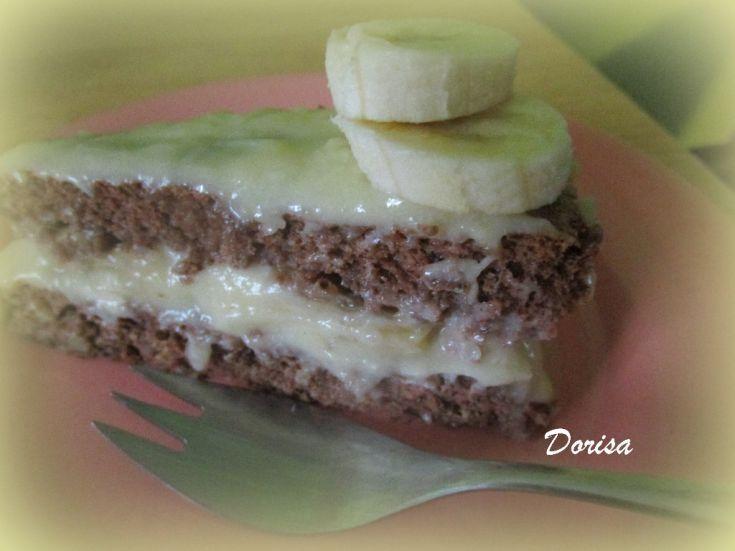 Fotorecept: Orechová torta bez múky s pudingovým krémom