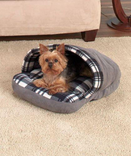 Plaid Slipper Pet Beds - DoggyMarket