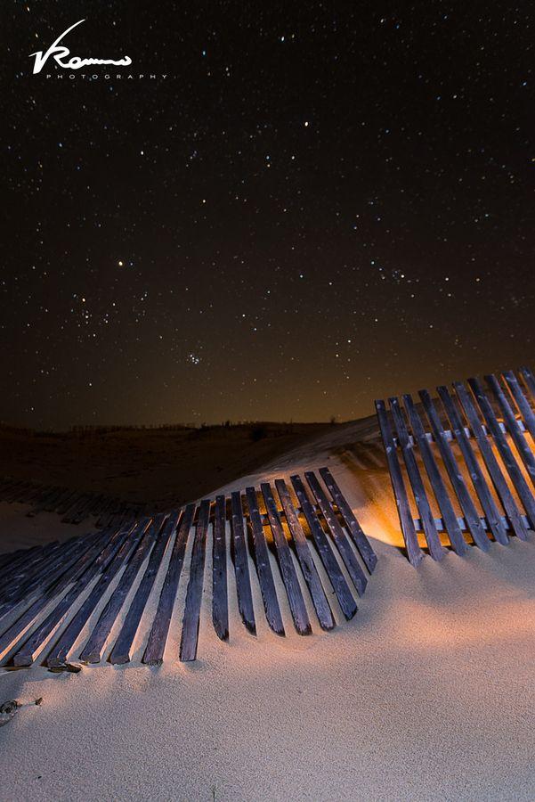 Lightpainting en la duna de Punta Paloma, Tarifa. Este invierno la duna están más gigantesca que nunca.