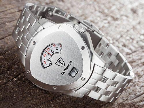 Pánské hodinky Detomaso Compasso se švýcarským strojkem ISA. Excelentní ruční hodinářská práce a neobyčejný moderní design v limitované nabídce.