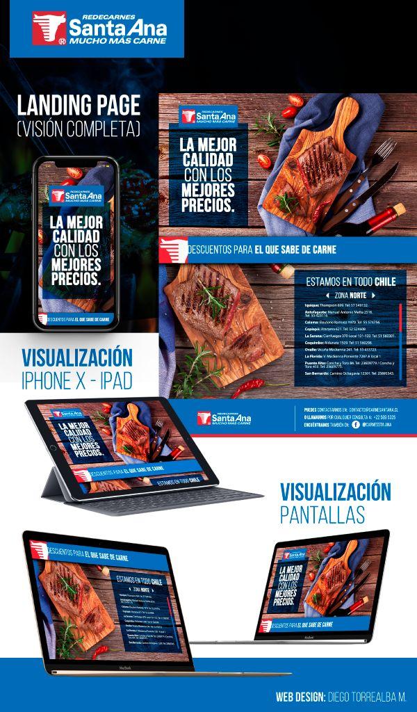 Web Design for Carnes Santa Ana - (Meats Santa Ana) - Butcher Shop. 2017 By: Diego Torrealba M.