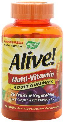Nature's Way Alive Gummie Vitamins.  Chocked full of good stuff the body needs.