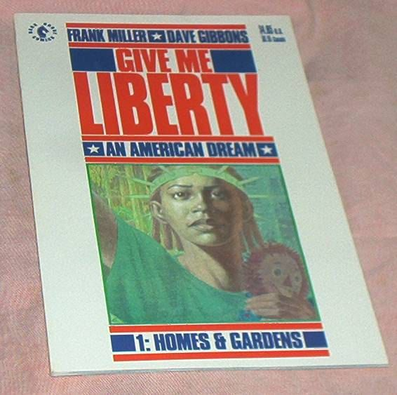 GIVE ME LIBERTY #1, from 4 Issue deluxe Mini-Series, Dark Horse Comics, by Frank Miller/Dave Gibbons, June, 1990, Fine+ by brotoys1 on Etsy