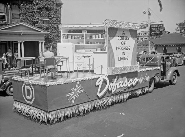 Dofasco's float in the Centennial Parade.