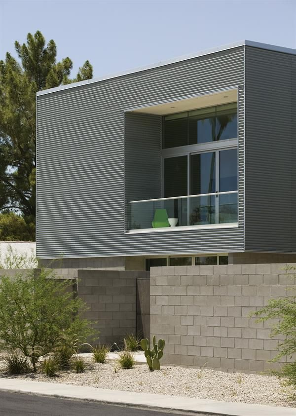 Cmu Corrugated Steel Xereiscaping Details Pinterest