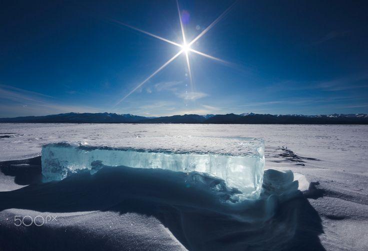 Ice square on lake Baikal - Russia, Siberia, Baikal Lake http://www.jensrosbach.de