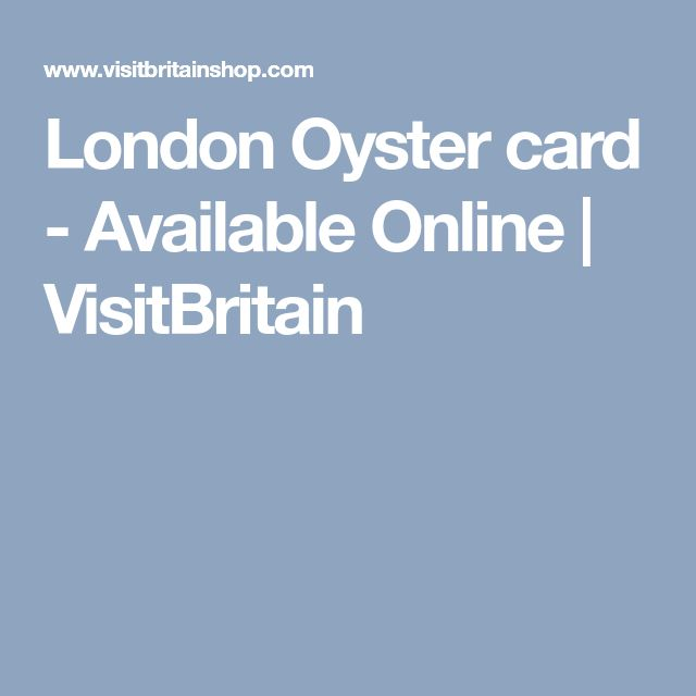 London Oyster card - Available Online | VisitBritain