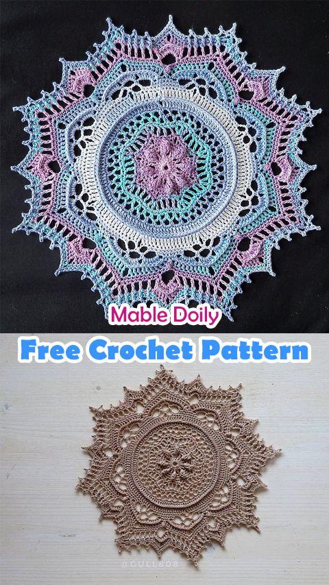Mable Doily Free Crochet Pattern Crochet Crafts Homedecor