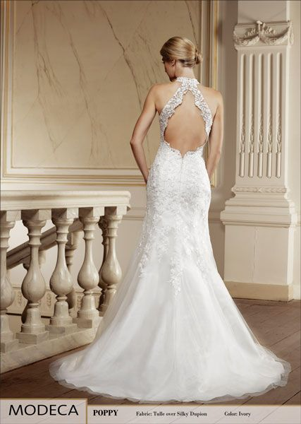 My wedding dress.  Halter neck Wedding Dress by Modeca.  Bridal Gown Poppy