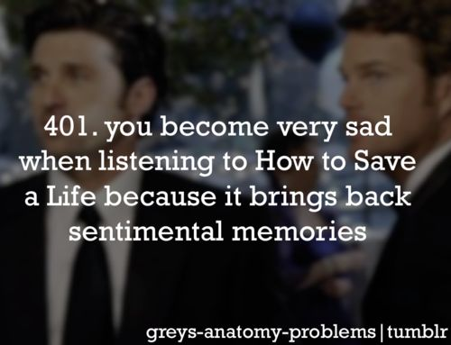 the song that played during that still picture was Chasing Cars, not How to save a life. BUT yes... how to save a life is just as bad as Chasing Cars