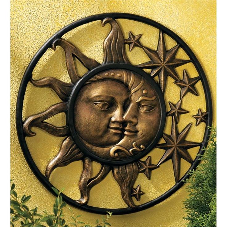 Sun & Moon Face Wall Sculpture
