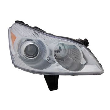 2009-2010 Chevy Traverse Chrome/Clear Euro Headlights - TYC L and R - Pair - 2009, 2010.