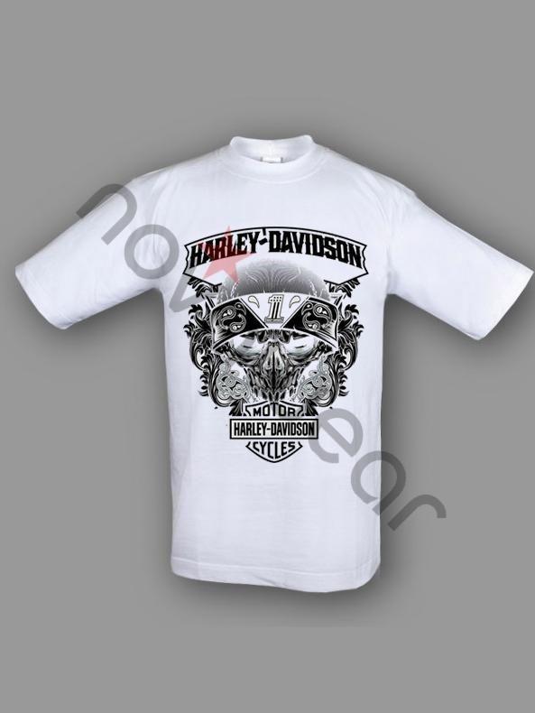 Harley Davidson T-Shirt Price: 15.90 €  - Harley Davidson T-shirt - 100% Cotton - Printed - Logo on front and back