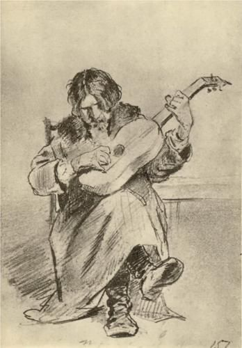 """Guitarist-Bach"" by Vasily Perov"