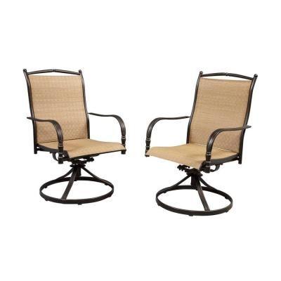 Hampton Bay Altamira Diamond Motion Patio Dining Chairs (Set Of 2) DY9976