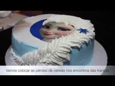 Confeitando o bolo com Rosas de chantilly (passo a passo) - Emilia Leiko - YouTube