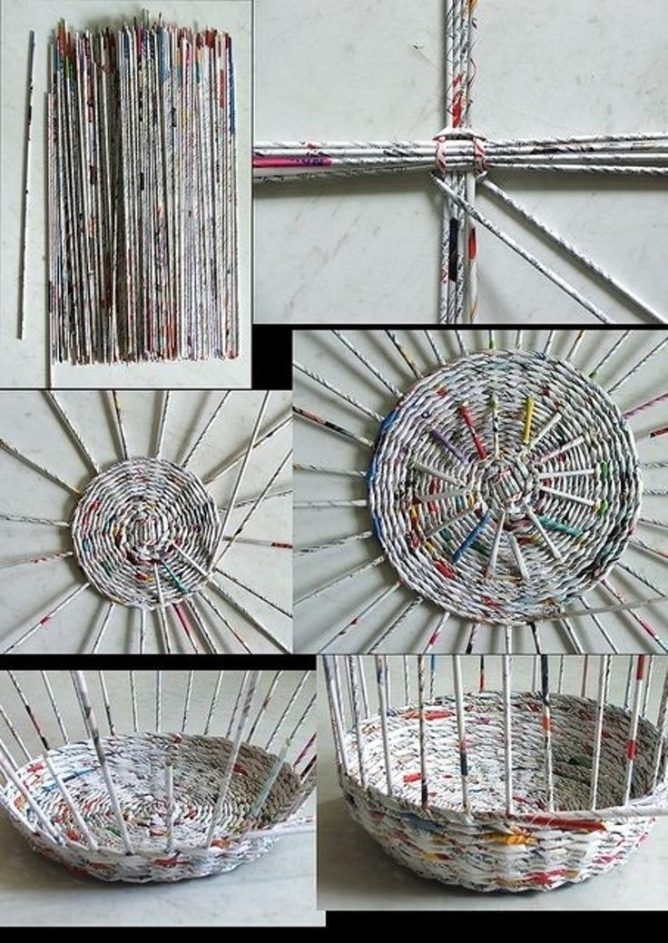 Basket Weaving Using A Paper Cup : Best old magazine crafts ideas on