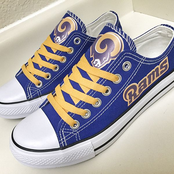 Los Angeles Rams Converse Style Sneakers - http://cutesportsfan.com/los-angeles-rams-designed-sneakers/