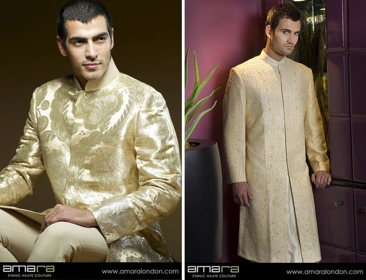 Stunning Sherwanis, Jodhpuris & Indo Western suits that enable the grooms to exude a unique sense of style, confidence & sophistication.