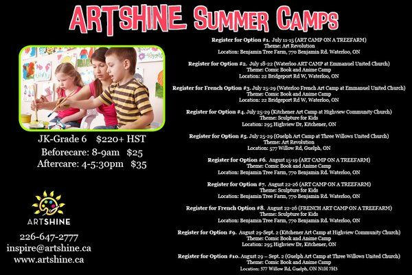 "ARTSHINE-ARTS4ALL on Twitter: ""#kwawesome win a FREE @ARTSHINEINC SUMMER CAMP for your child.Visit our fb page for details https://t.co/ZoWo9QbCxE https://t.co/WYviJPHGSp"""
