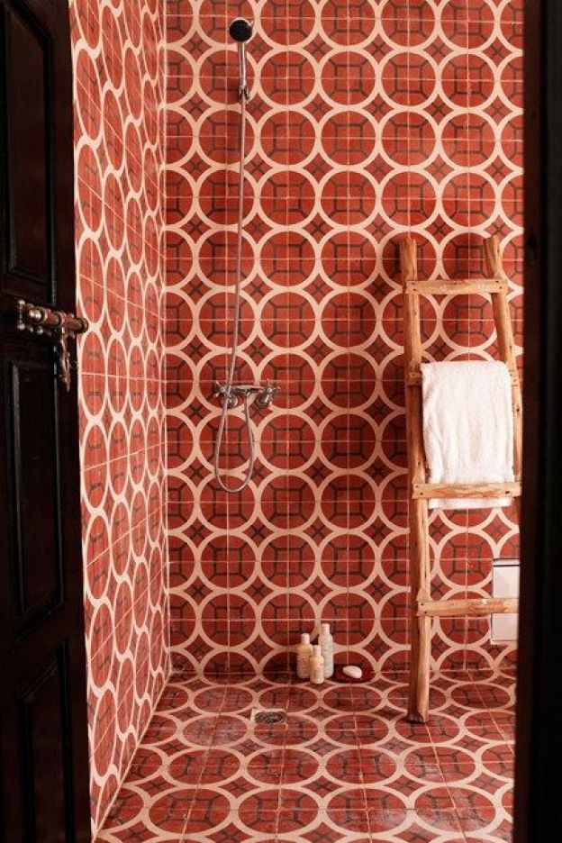 Discover Bathroom Design Ideas On House Design Food And Travel By House Garden Red And White Floor To Ceiling Wet Rooms Bathroom Design Small Room Design