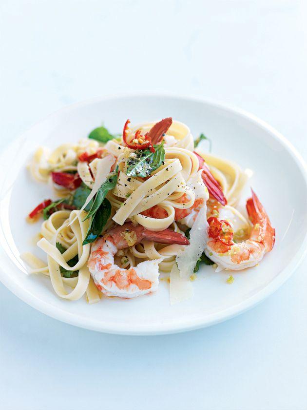 prawn, chilli and coriander pasta