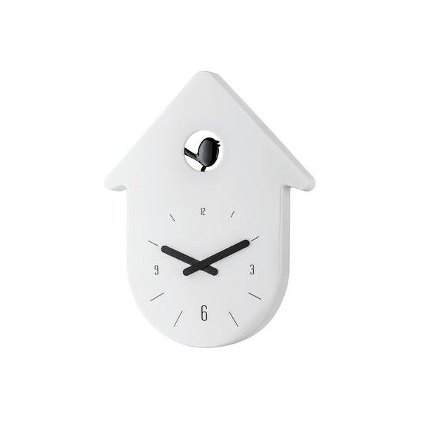Pendule coucou design blanche koziol toc toc