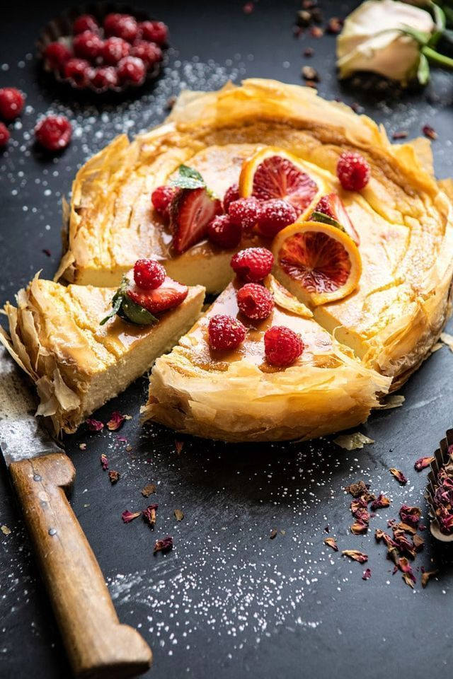Whipped Lemon Ricotta Cheesecake Rezept (mit Bildern