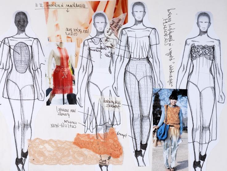 Textiles Fashion Sketchbook // Emma Phipps
