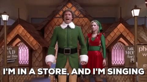 singing zooey deschanel christmas movies will ferrell elf im in a store and im singing #humor #hilarious #funny #lol #rofl #lmao #memes #cute