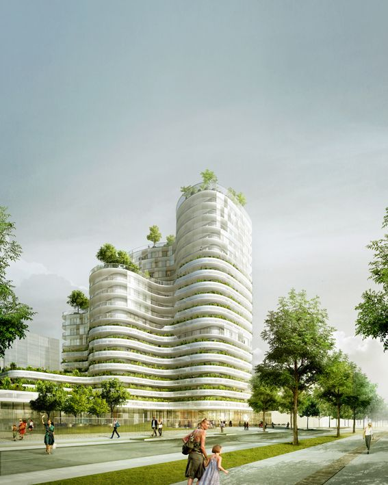 Housing Units in Nantes Winning Proposal / Hamonic + Masson