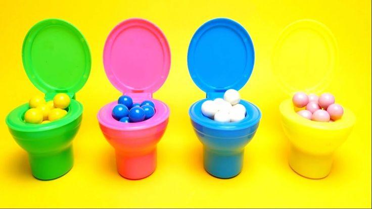 Candy Toilet Surprise Poop Toys for Kids Toddlers - Dubble Bubble Gum - Shopkins Disney Toys